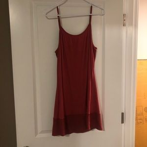 Cute burnt red slip dress with detailing